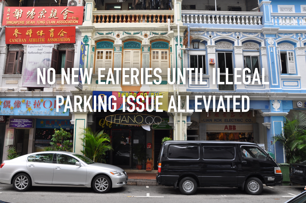 URA unable to approve new eateries until illegal parking issue is alleviated